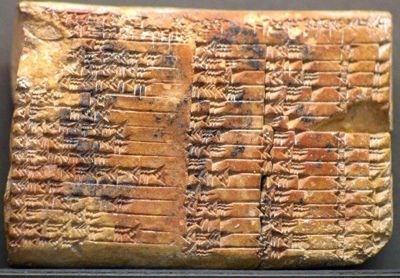 Plimpton 322 es una tablilla de barro de Babilonia, que destaca por contener un ejemplo de las matemáticas babilónicas. Tiene el número 322 en la colección GA Plimpton en la Universidad de Columbia. Esta tableta, se cree que fue escrita cerca de 1800 a. C., tiene una tabla de cuatro columnas y 15 filas de números en escritura cuneiforme de la época.