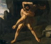 Hércules luchando con Anteo
