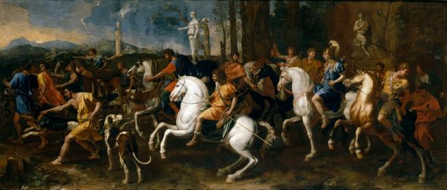 La caza de Atalanta y Meleagro Poussin