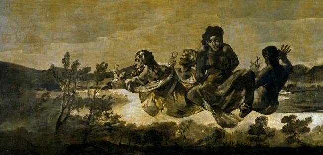 Las parcas, Goya