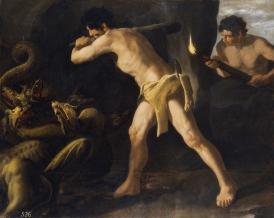 Lucha de Hércules con la hidra de Lerna