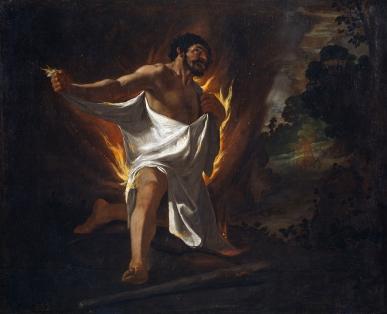 Muerte de Hércules, abrasado por la túnica del centauro Neso