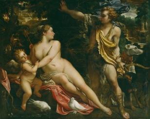 Venus, Adonis y Cupido annibale carracci