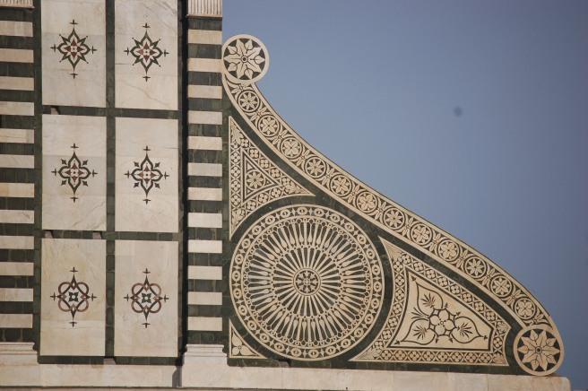 Detalle de la fachada de la Iglesia de Santa María Novella