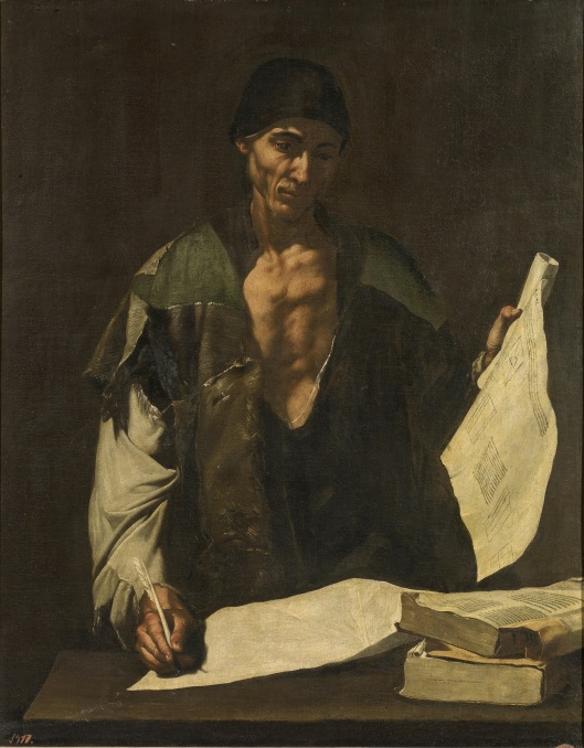 Arquímedes - José de Ribera - 1630. Óleo sobre lienzo. Museo del Prado.