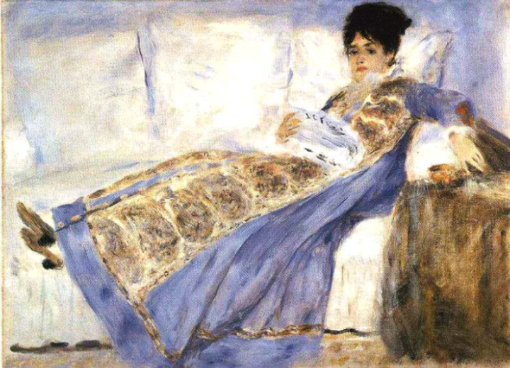 Madame_Monet_Reading_Le_Figaro