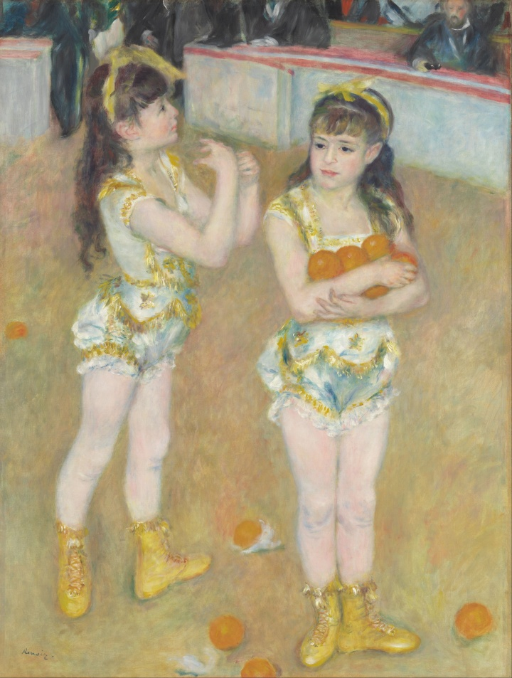 Pierre-Auguste_Renoir_-_Acrobats_at_the_Cirque_Fernando_(Francisca_and_Angelina_Wartenberg)_-_Google_Art_Project
