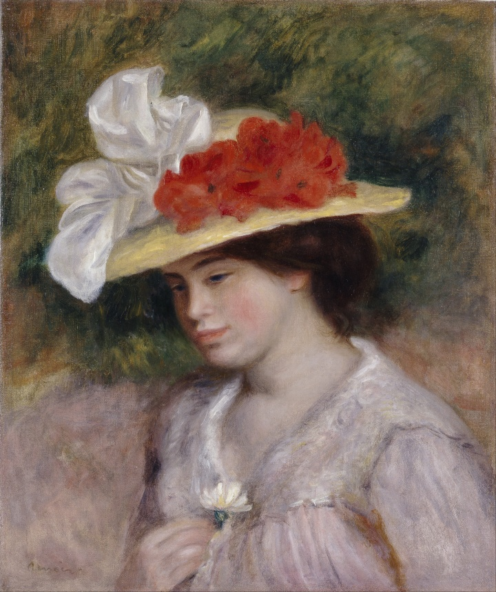 Pierre_Auguste_Renoir_-_Woman_in_a_Flowered_Hat_-_Google_Art_Project