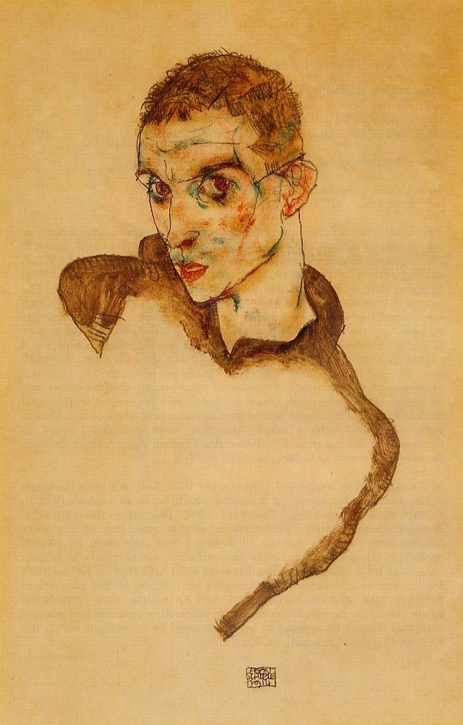 Autoretrato, Egon Schiele 1914