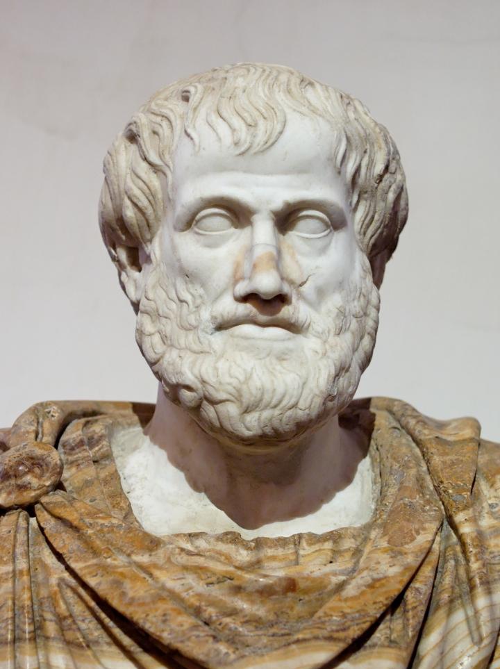 Busto de Aristóteles en Roma.