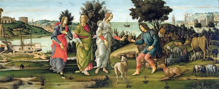 El juicio de Paris, Botticelli