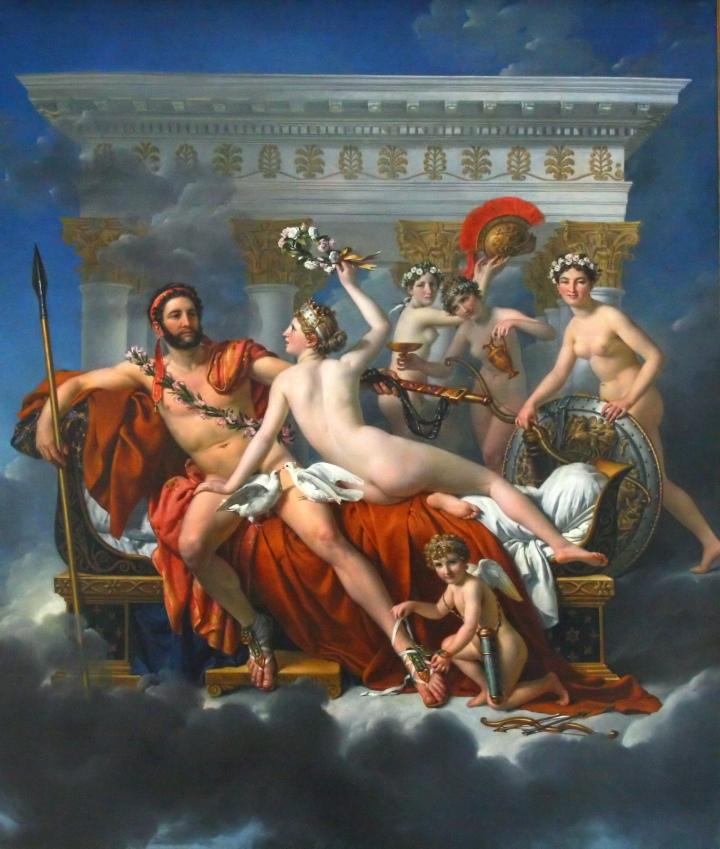 Marte desarmado por Venus y las Grcias, David