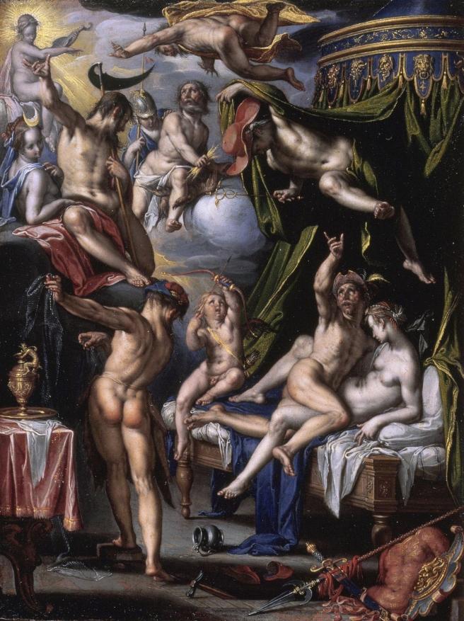 Venus en mars verrast door  vulcanusJoachem Wtewael