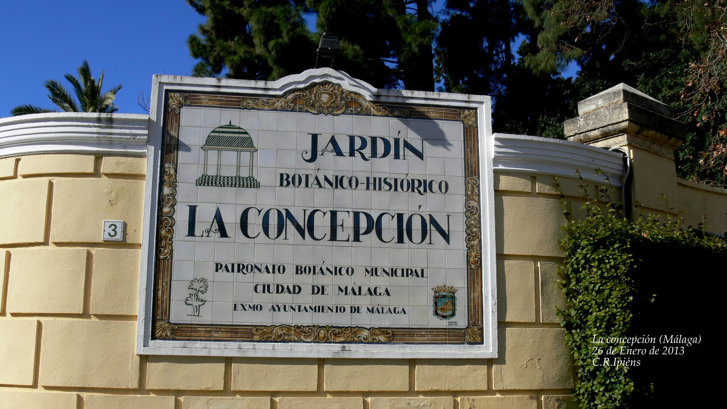 Jard n bot nico hist rico la concepci n de m laga for Entrada jardin botanico madrid