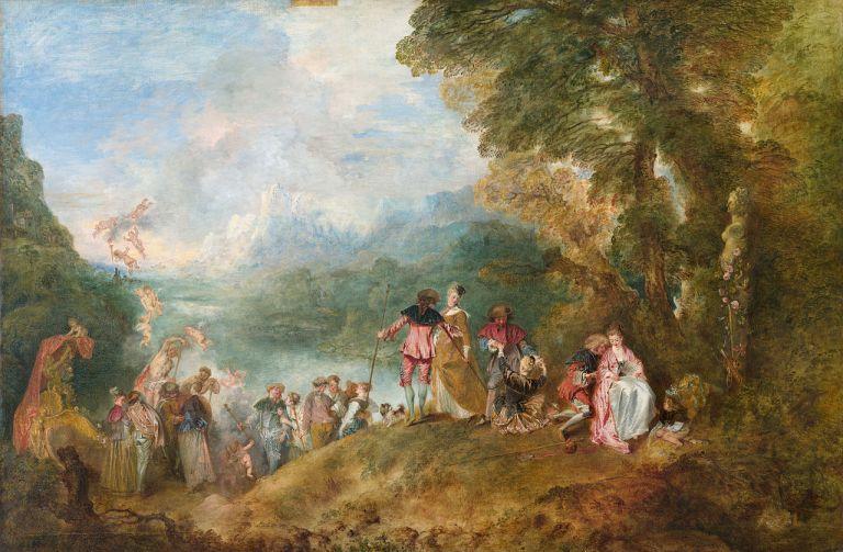 Peregrinación a la isla de Cítara, Watteau