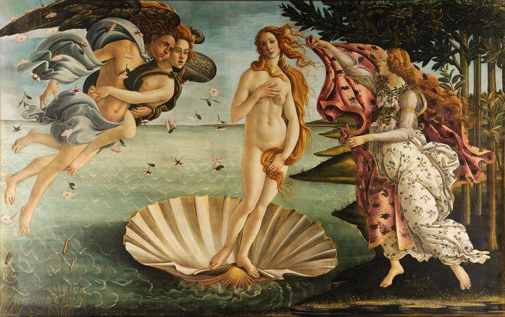 Nacimiento de Venus, Botticelli
