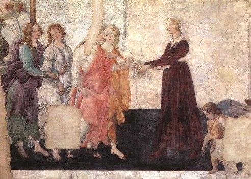 Venus dando un regalo, Botticelli
