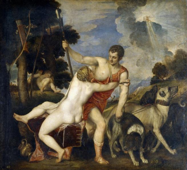 Venus y Adonis Tiziano