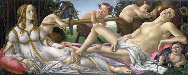 Venus y Marte Botticelli