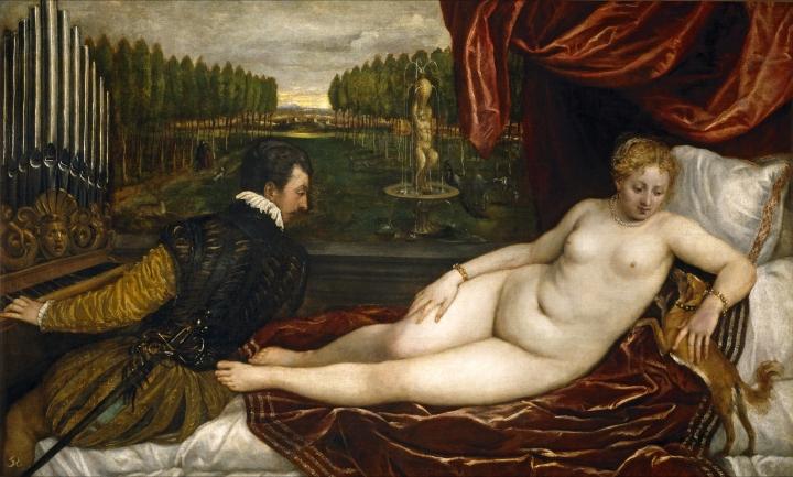 Venus y el organista, Tiziano