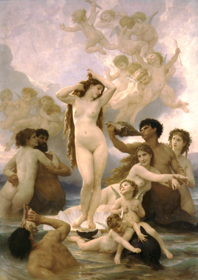 Nacimiento de Venus Bouguereau. 1879
