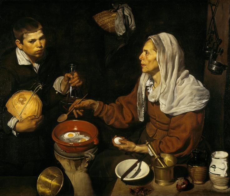 6 peso 1618 Vieja friendo huevos