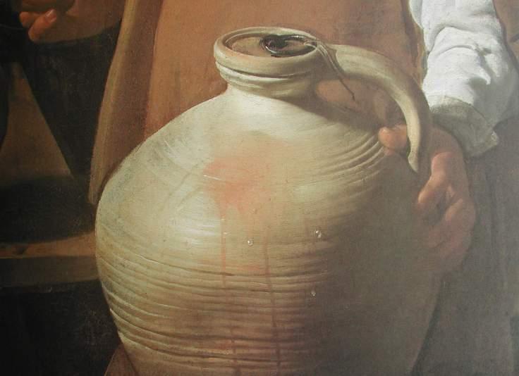 Velazquez (El aguador, detalle del cántaro)