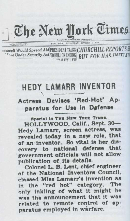Página del New York Times anunciando el invento.