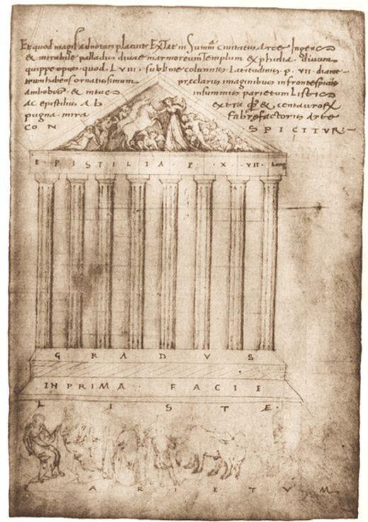 El Código de Partenón en Hamilton (Deutsche Staatsbibliothek de Berlín)Dibujo Ciriaco d'Ancona