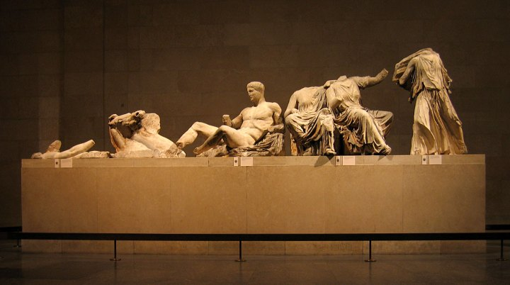 Mármoles de Elgin, Museo Británico