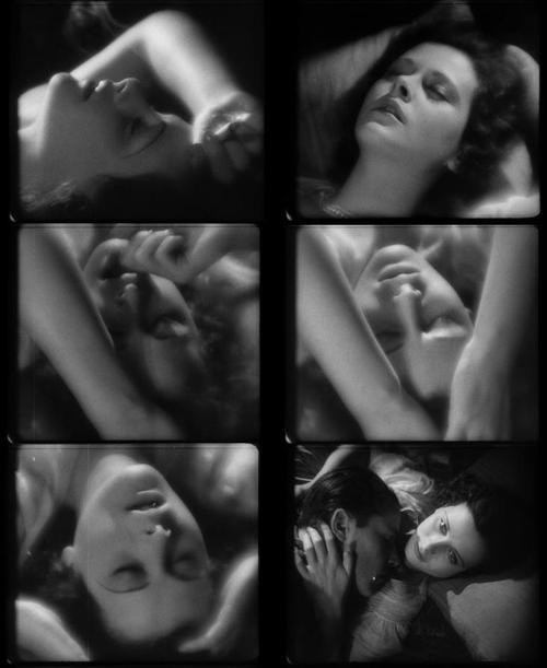Imágenes de su cara en la escena orgásmica.