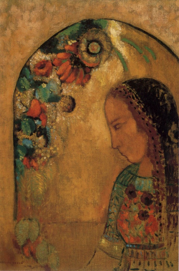 Odilon_Redon_-_'Lady_of_the_Flowers',_oil_on_canvas,_c._1890-95