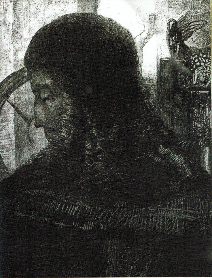 Odilon_Redon_-_Old_Knight_1896,_lithograph