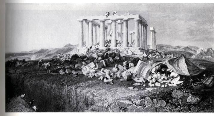 Charles Robert Cockerell, Excavaciones dl Templo de Afaia en Aegina, 1811.