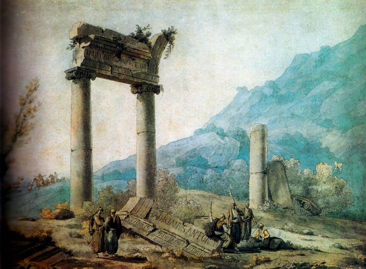 Lámina del libro Redescubrimiento de Grecia de Fani-María Tsigakou