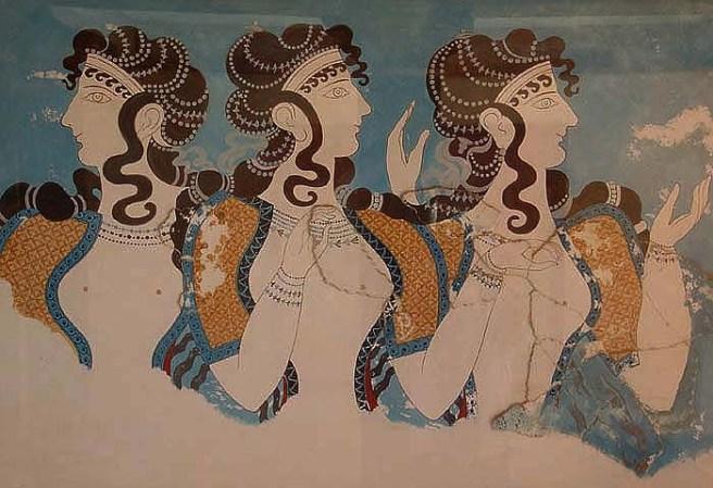 Las Damas de Azul.  Ala este del Palacio de Knossos.Heraklion Museum