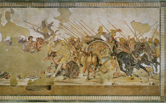 La batalla de Issus o el Mosaico de Alejandro, Casa del Fauno Pompeya.