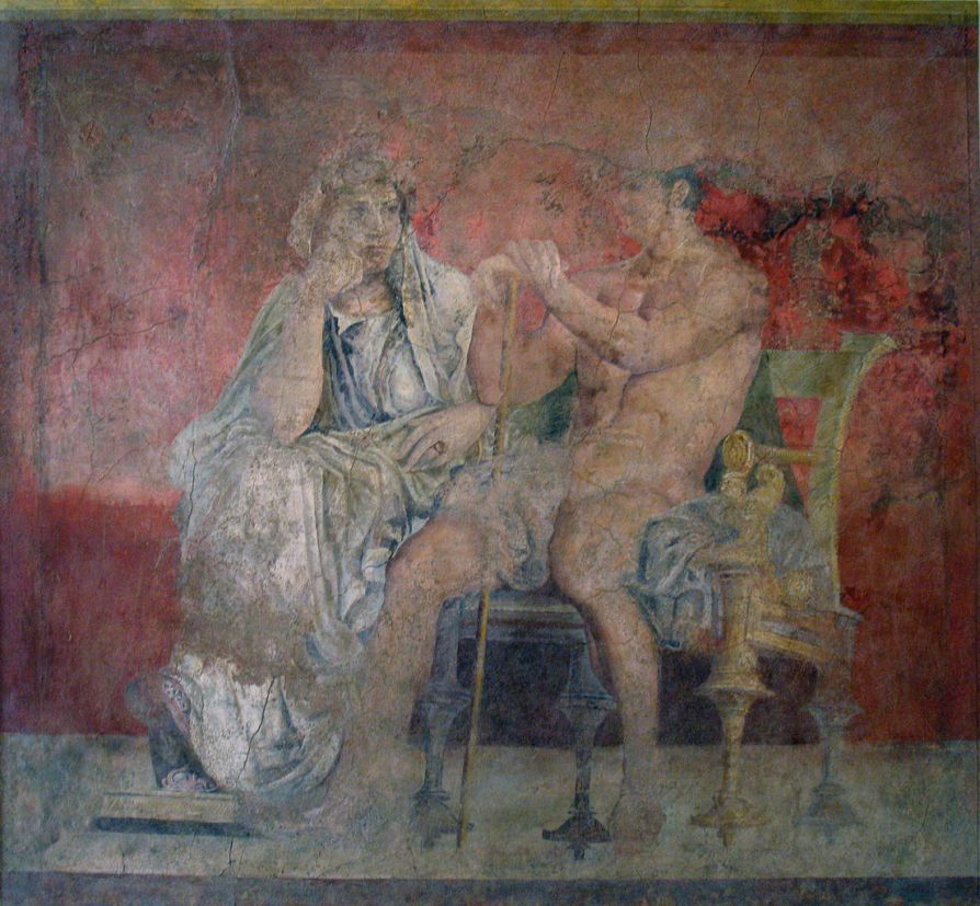 Fresco de la pared del Hall (2)