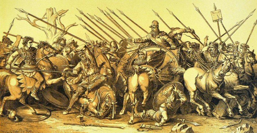 batalla de Issus o el Mosaico de Alejandro, Casa del Fauno Pompeya. (Reconstrucción)