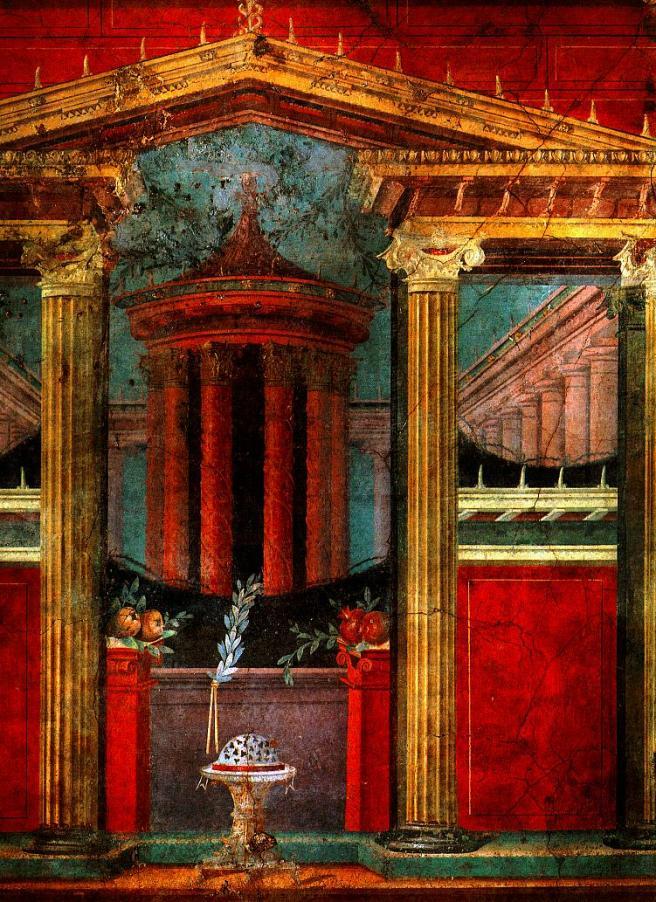Fresco de la villa de P. Fannio Sinistore en Boscoreale, que actualmente se encuentra en el Museo Metropolitano de Arte, Nueva York.