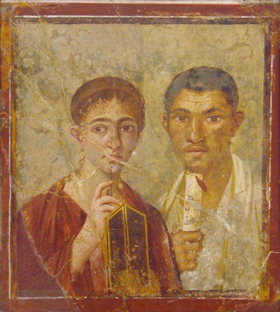 Terentius Neo el panadero y su mujer.