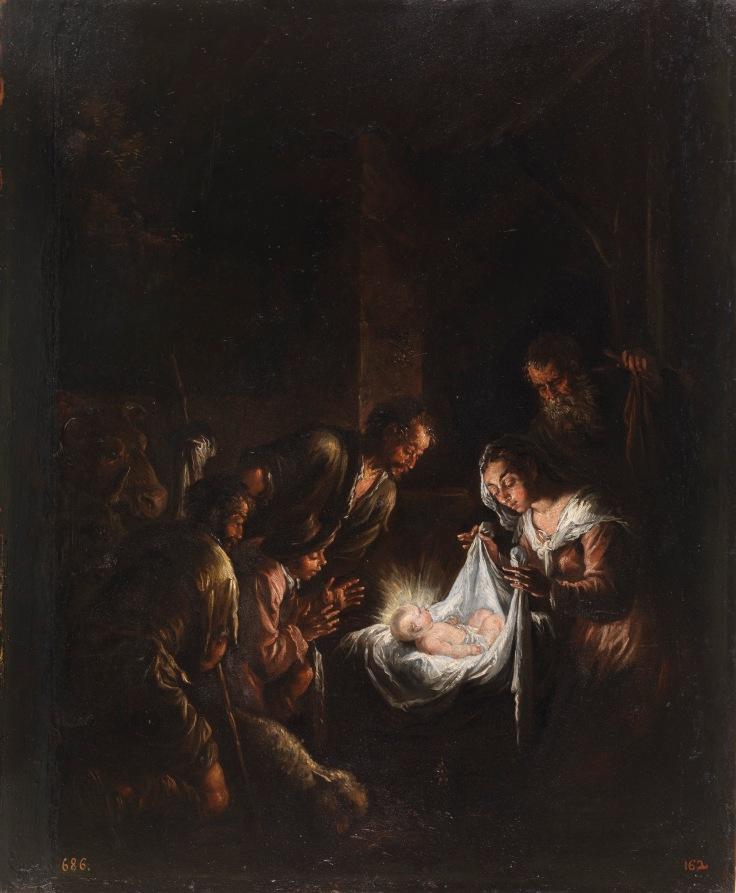 Adoración de los pastores Jacopo Bassano sala 5