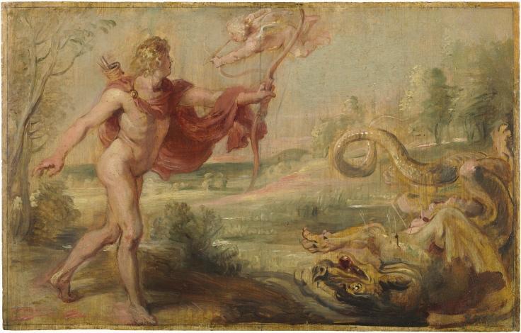 Apolo y la serpiente Pitón, Pedro Pablo Rubens sala 7