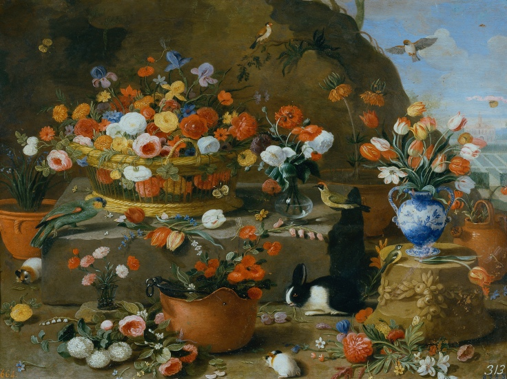 Bodegón de flores, Jan van Kessel el Viejo sala 8