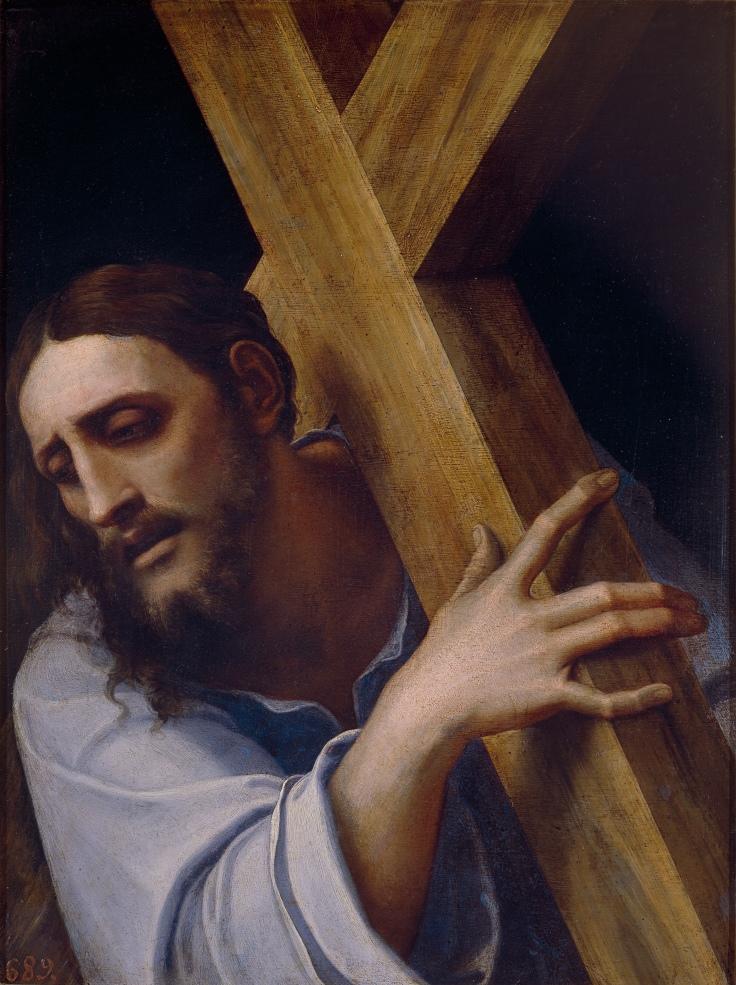 Cristo con la cruz a cuestas Sebastiano del Piombo sala 5