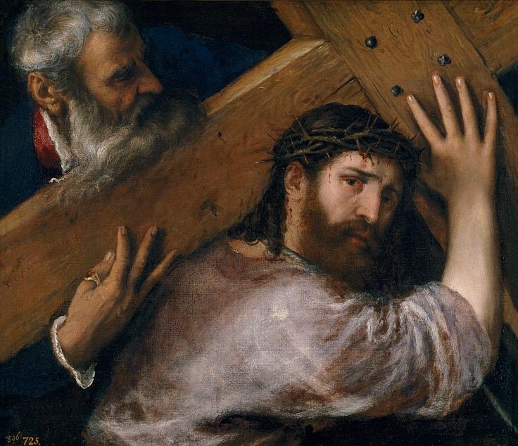 Cristo con la cruz a cuestas Tiziano sala 5