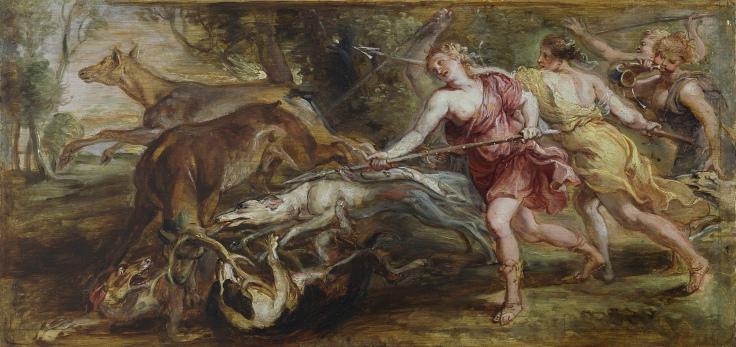 Diana y sus ninfas cazando Pedro Pablo Rubens sala 7