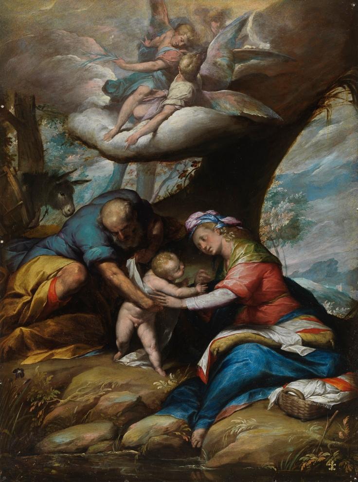 El descanso en la huída a Egipto Giovanni Battista Crespi, Il Cerano sala 5