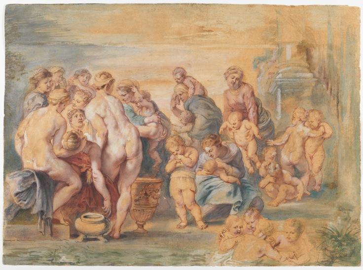 El nacimiento de Apolo y Diana, Pedro Pablo Rubens sala 7