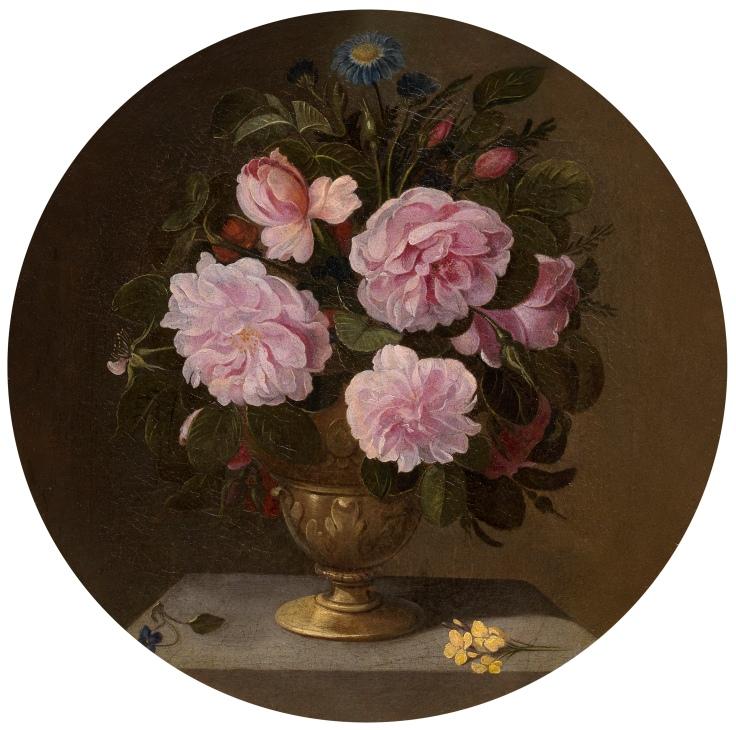 Jarrón de bronce con rosas, Pedro Camprobín sala 8